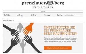 Screenshot Prenzlauer Berg Nachrichten