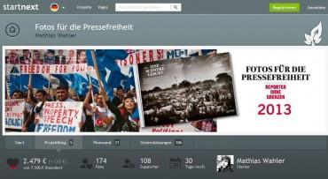 Fotos für die Pressefreiheit unterstützen