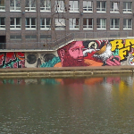 Detailansicht. Broken Fingaz Crew. Bremen - Bürgermeister-Smidt-Brücke