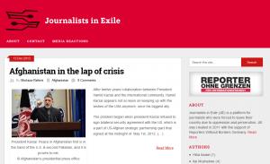 Screenshot Journalists in Exile (JIE)